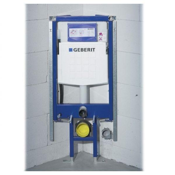 GEBERIT Duofix за окачена тоалетна чиния, монтаж на бутона отпред, за ъглов монтаж / art. 111.390.00.5