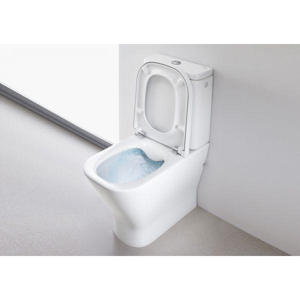 ROCA The Gap Compact Clean Rim моноблок, двойно оттичане, седалка с метални панти, 600mm