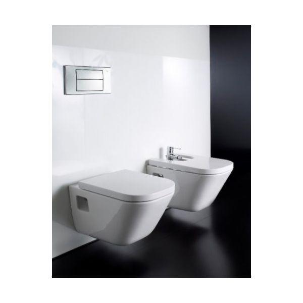 ROCA The Gap конзолна тоалетна чиния, седалка и капак