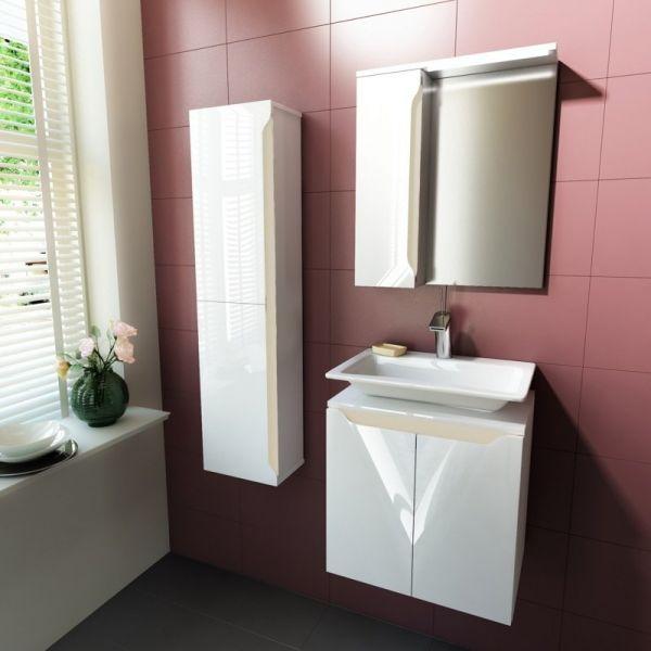 Комплект мебели за баня Carre 50, бленда крем