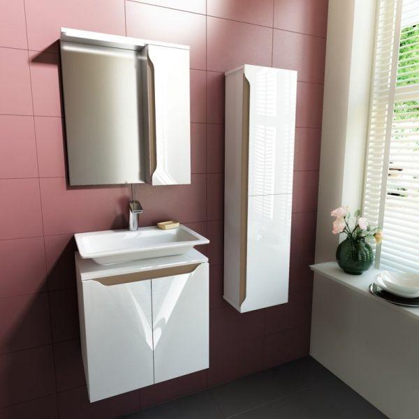 Комплект мебели за баня Carre 50, бленда беж