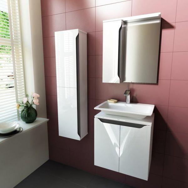 Комплект мебели за баня Carre 50, сива бленда
