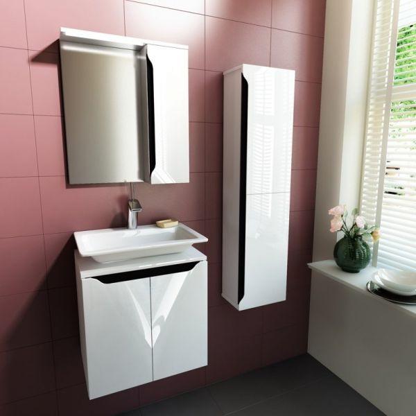Комплект мебели за баня Carre 50, бленда графит
