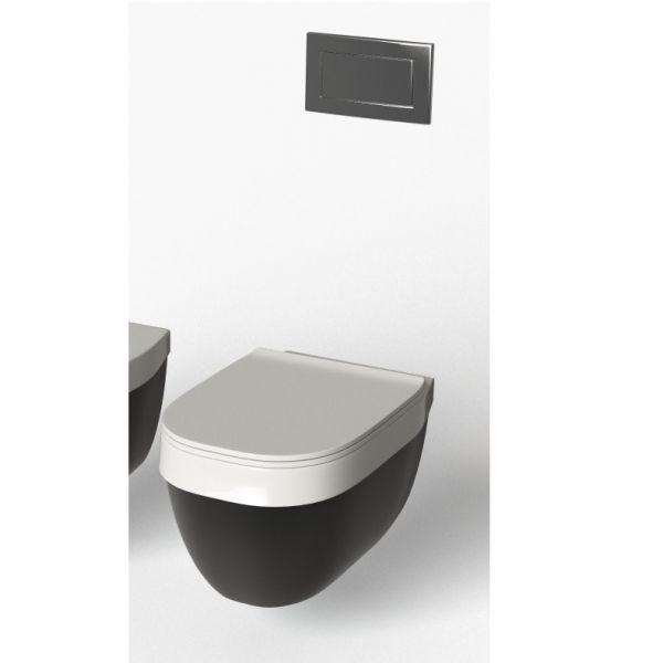 Конзолна тоалетна чиния HATRIA Abito Black , 56см