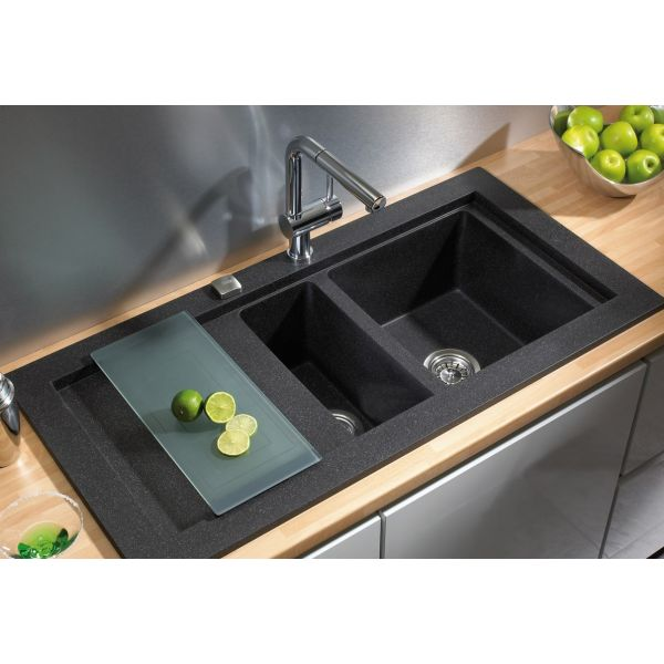 Кухненска мивка Aura 60 B-TG, черна