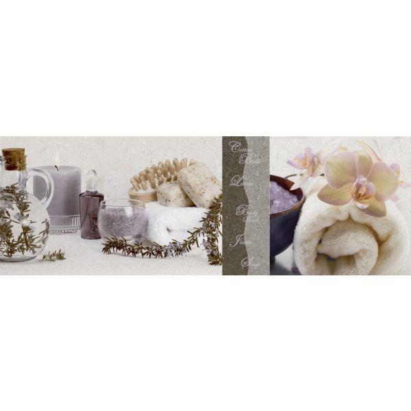 Декор за баня Епок орхидея грей, 20 х 60см, лв/бр