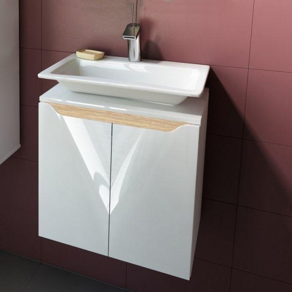Долен шкаф за баня Carre 50, бленда масив дъб