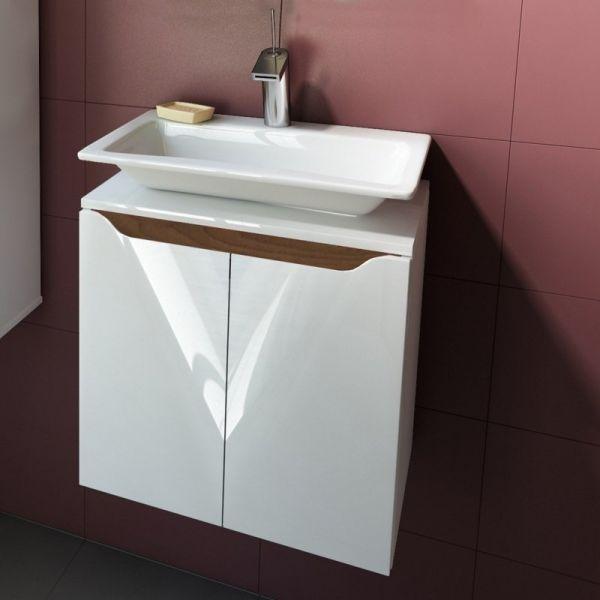 Долен шкаф за баня Carre 50, бленда масив орех