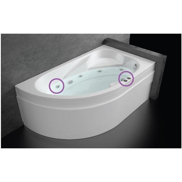 хидромасажна вана ONIX, Combo Flat 10, 1600mm x 900mm