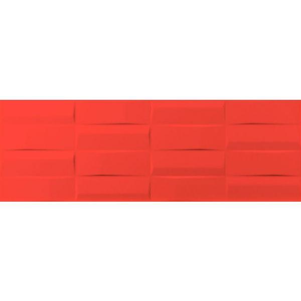 Плочки за баня Куул ред правоъгълници, 25х73см, лв/м2