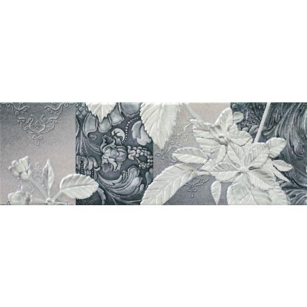Декор за баня Хабитат стоун графито А, 20х60см, лв/бр
