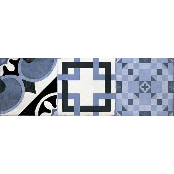 Декор за баня Хидра азул, 20х60см, лв/м2