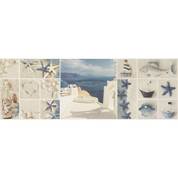Декор за баня Санторини гланц, 25х73см, лв/бр