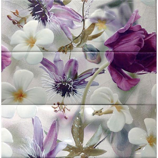 Декорна плочка за баня Генезис грис, 75 х 75см, к-т 3 части, лв/бр.