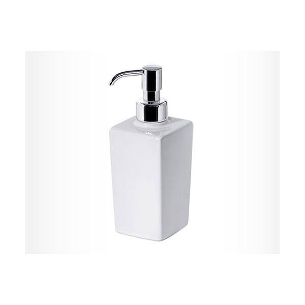DENDRA дозатор за течен сапун порцеланов, квадрат