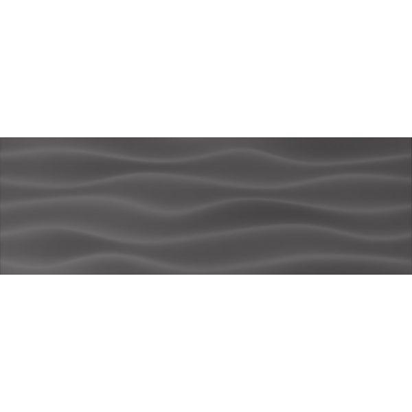 Плочки за баня Динамик негро ондас, 20х60см, лв/м2