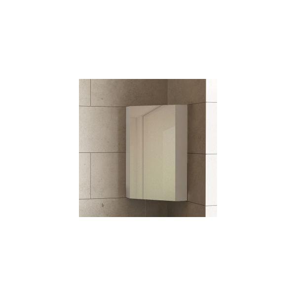 Горен шкаф с огледало за баня Dolce, ъглов