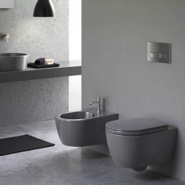 Конзолна тоалетна чиния HATRIA Fusion Grey Antracite, 54