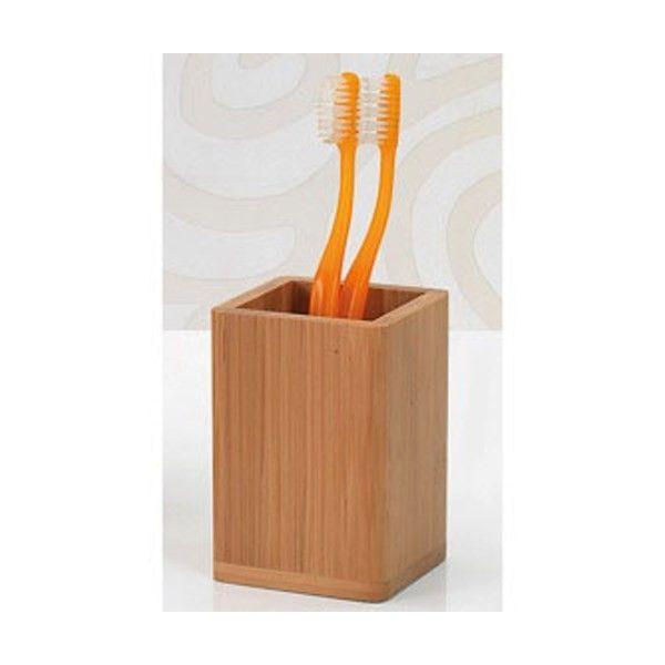 BAMBU чаша за четки за зъби от естествен бамбук