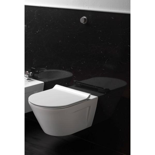 GSI Norm, конзолна тоалетна чиния без вътрешен ръб, 55см
