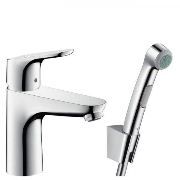 Смесител за умивалник Hansgrohe Focus 100 с хигиенен душ, 31927000