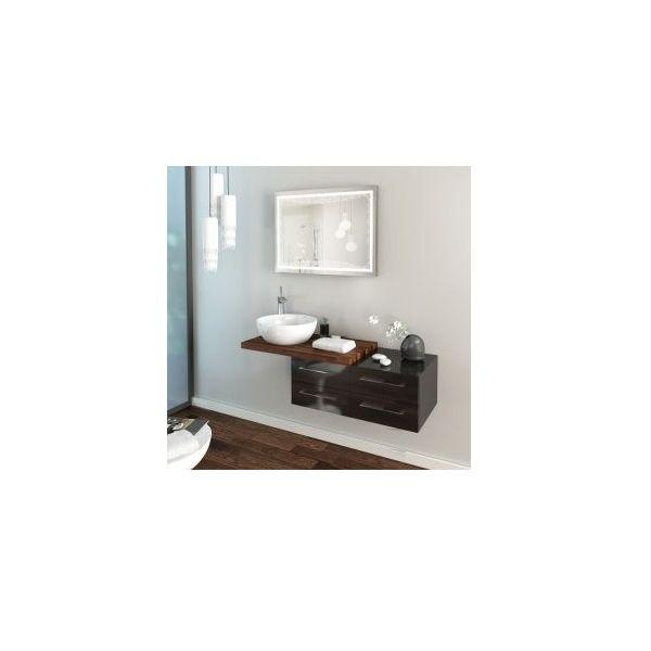 Долен шкаф за баня Legato орех, 4 чекмеджета, 120см
