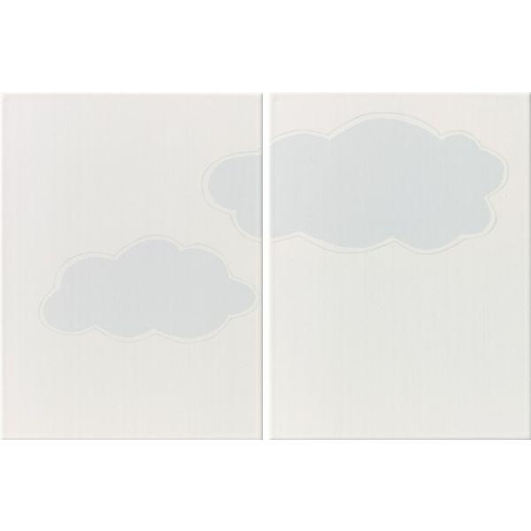Декор за баня Облаци, 25х66см, к-т 2 части, лв/бр
