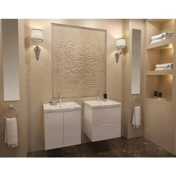 Мебел за Баня SOFT, долен шкаф с 2 чекмеджета, 57см