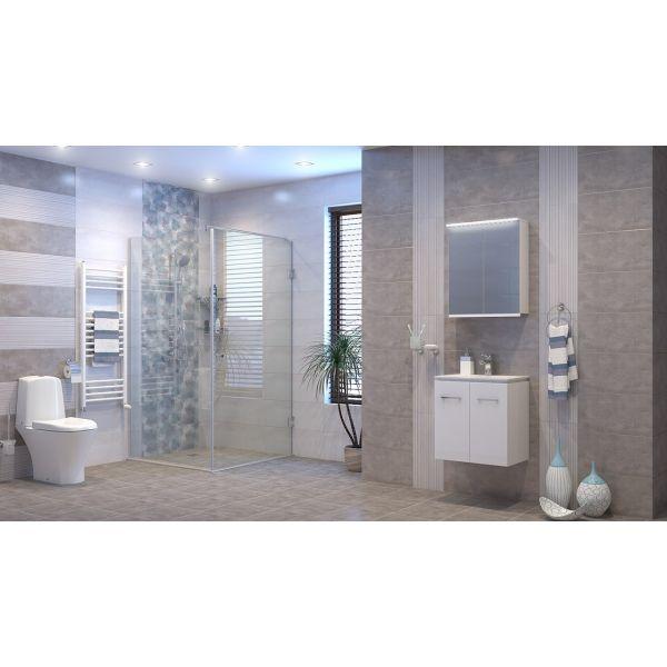 Комплект мебели за баня ФЕНИКС, долен и горен шкаф