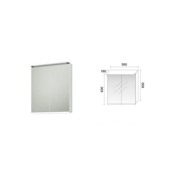 Мебел за баня ФЕНИКС, горен шкаф, 55см