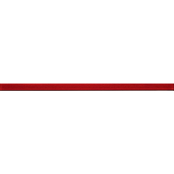 Стъклена пура червена, 1х44,8см, лв/бр