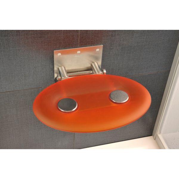 Седалка за баня RAVAK Ovo, оранжева