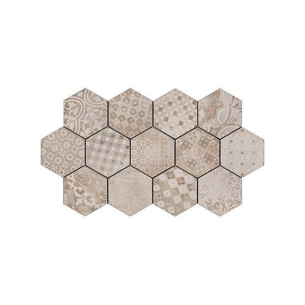 Гранитогрес Релайнд семент декор, 21х18,2см, лв/м2