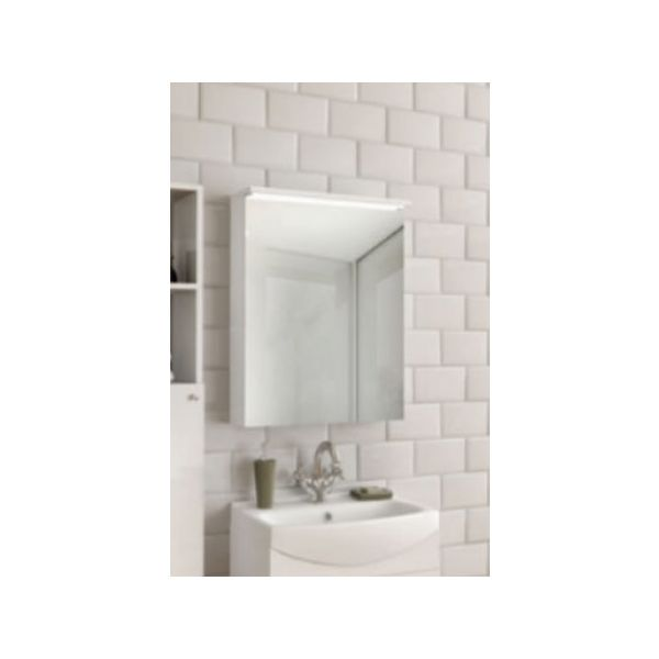 Горен шкаф с огледало за баня и осветление Ritmo