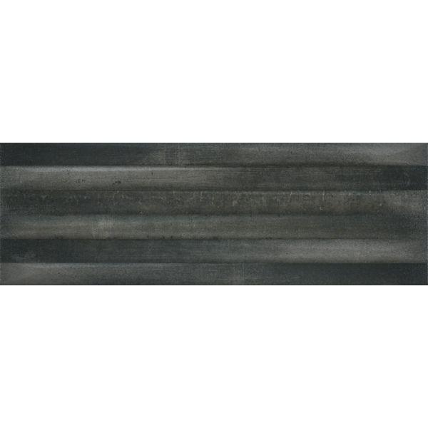 Плочки за баня Метал Арт антрацит релеф, 20х60см, лв/м2