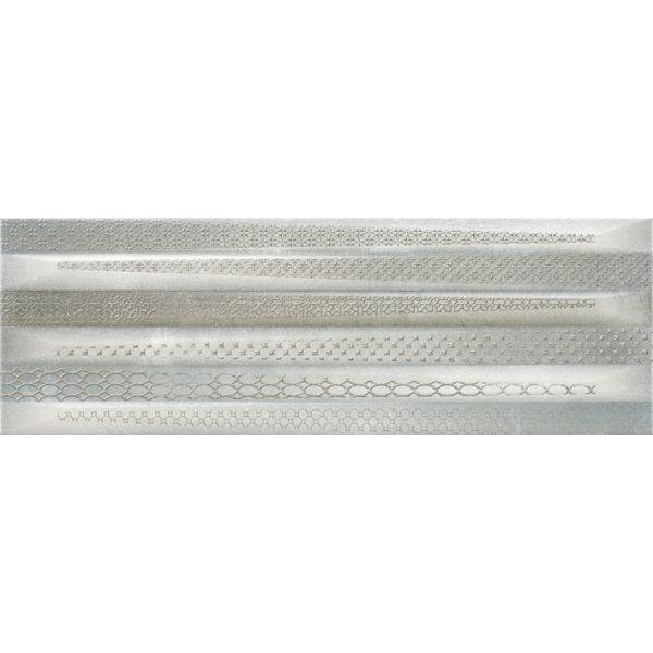 Плочки за баня Метал Арт декор 2 грей, 20х60см, лв/м2
