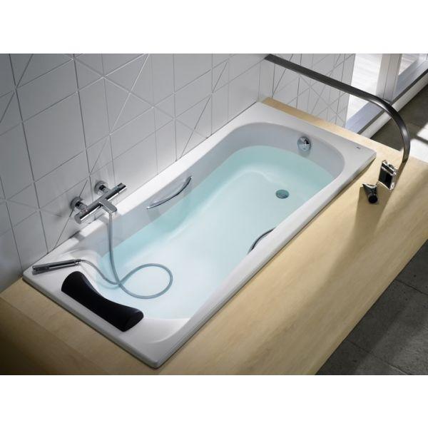 ROCA BeCool, правоъгълна акрилна вана с дръжки 1700мм