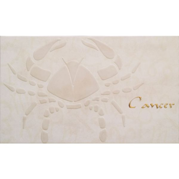 Декорна плочка за баня Рак, 33,3x55см, лв/бр